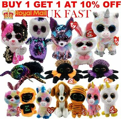 "Ty Beanie Boo Boos - Choose Your Favourite Soft Plush Kids Toy - 6"" inc (15 cm)*"