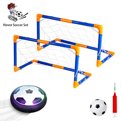 Hover Soccer Ball Toys Set with 2 Goals,Size 4 Air Power Soccer Disc Fun Sport