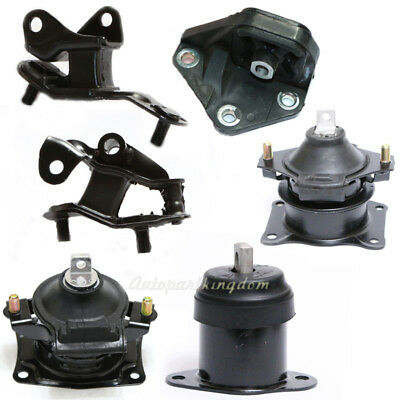 Fits 2003-2007 Honda Accord 2.4L Engine Motor & Trans Mount Set 6PCS (Automatic)