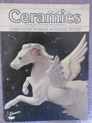 Vintage Ceramics Magazine August 1985 - Summer Fun - New Techniques, Etc