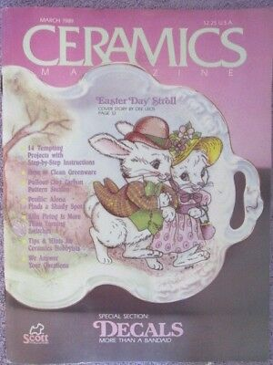 Vintage   Ceramics Magazine - March 1989 Easter Issue