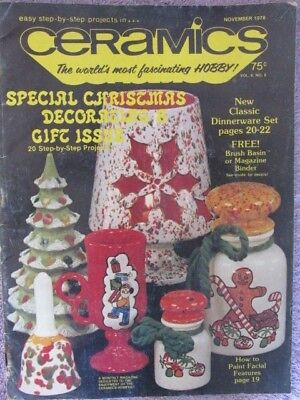 VintageCeramics Magazine November 1978-Special Christmas Decorating & Gift Issue
