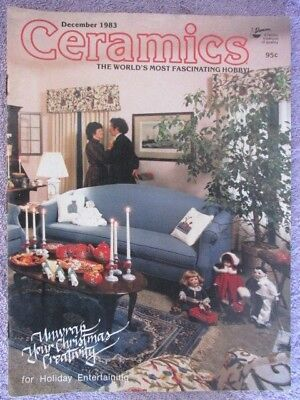 Vintage Ceramics Magazine - December 1983 - Unwrap your Christmas Creativity!!