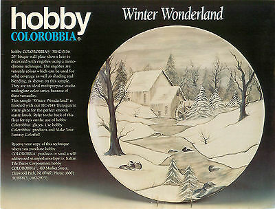 Hobby Colorobbia Winter Wonderland Technique Sheet