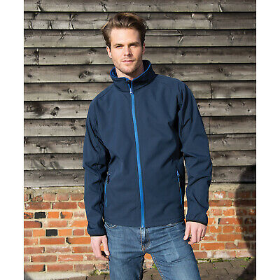 Result Core Hombre Imprimible Chaqueta Softshell Winters Impermeable Fashionwear