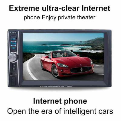 """6.6"""" 2DIN Car MP5 Player Bluetooth MP3/MP4/Audio/Video/USB Rearview+Camera"""