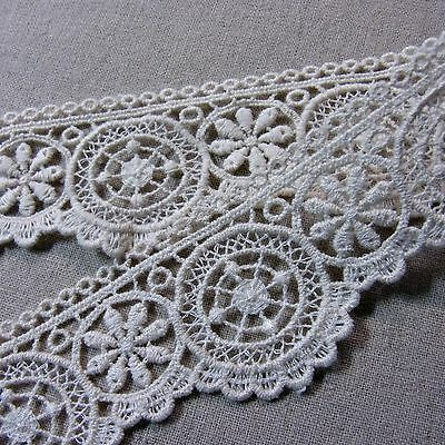 """Cotton Crochet Lace  Trim Embroidered Applique Sewing 1.6""""(4cm) Wide 1yard"""