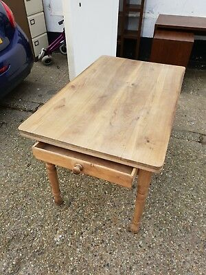 VINTAGE Pine Table With Draw