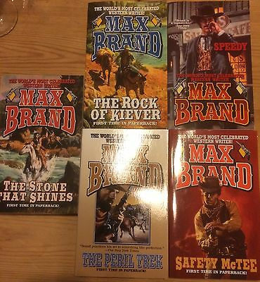 Max Brand 5 Book Western collection B.