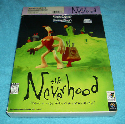 The Neverhood Vintage PC Game from DreamWorks Interactive Original Big Box Win95