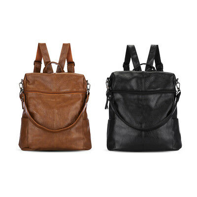 Large Capacity Water-Resistant Genuine Leather Shoulder Bag Women Backpack