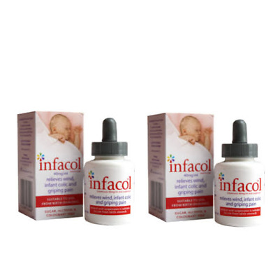 2x Infacol Simeticone Relieves Wind, Colic & Griping Pain 50ml