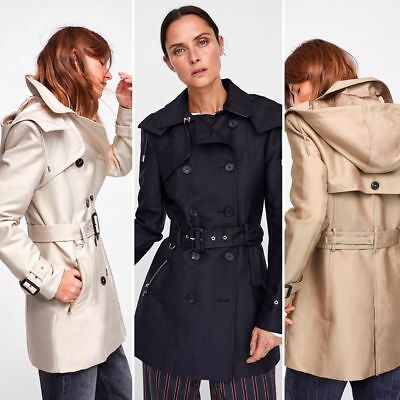 bf0b6eed ZARA NEW AW 2018 | Hooded Trench Coat | Ref. 0518.255/256/259 ...
