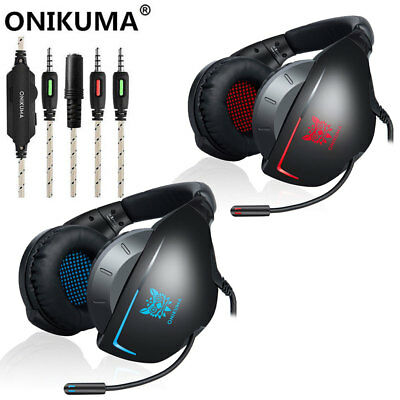 ONIKUMA K7 Stereo Bass Surround Gaming Headset for PS4 New Xbox One PC Mic