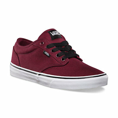 bf6f570b57 Vans Atwood Kids Boys Girls Canvas Oxblood Red   Black Trainers Shoes 3 RRP  £33