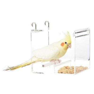 Parrot Food Mate Acrylic Less Mess Feeder Small