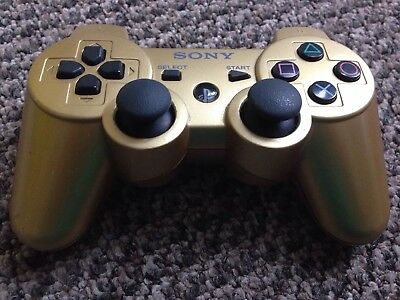 Official Dualshock Sixaxis Gold PlayStation 3 Controller