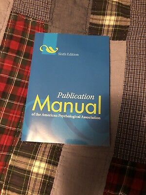 Publication Manual of the American Psychological Association (Paperback, 6th...