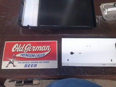 Vintage Old German Queen City Brewing Co. Slider and Metal Back New Old Stock!
