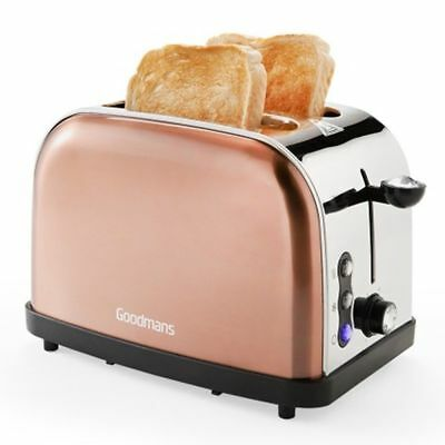 Goodmans copper effect 2 slice toaster with diamond effect new in box and sealed