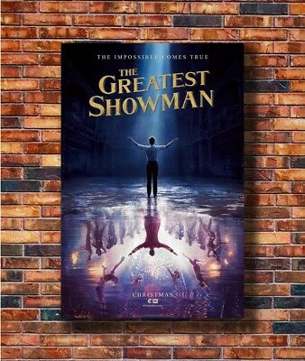 Hugh Jackman Film The Greatest Showman Movie Fabric Poster 18x12 36x24 40x27/""
