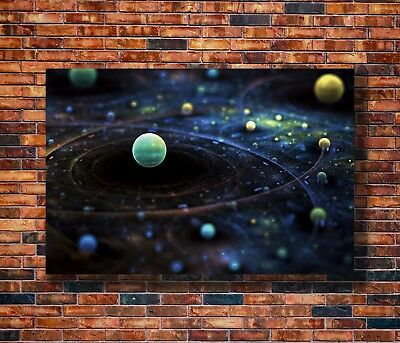 T2433 20x30 24x36 Silk Poster Milky Way Universe Galaxy Science Trippy Art Print
