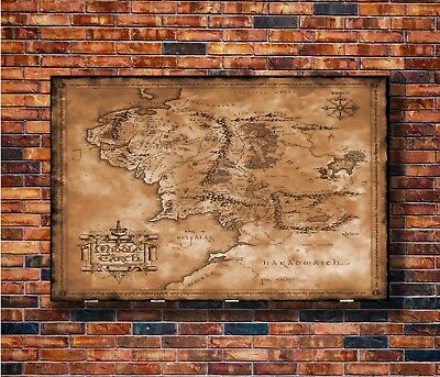 T1396 20x30 24x36 Silk Poster the hobbit map the lord of the rings Art Print