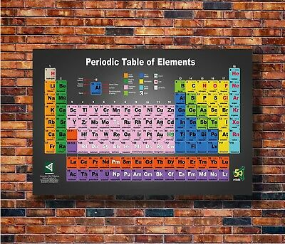 T1447 20x30 24x36 Silk Poster periodic table of the elements Pop Art Print