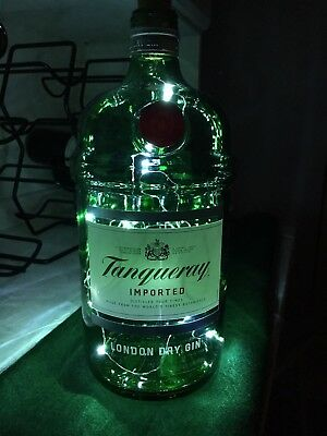 Tanqueray Gin Bottle 1. 75 Up Cycle Lamp Light Led String With Usb Recharge