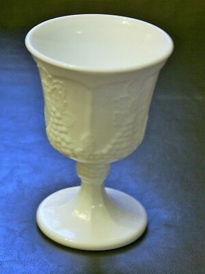 Vintage Indiana Glass Colony Harvest Grape Milk White Goblet 3 Available Beauty!