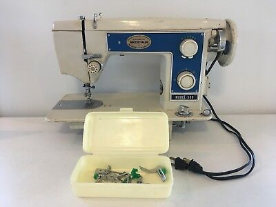 Vintage RARE Necchi-Alco Model 500 Heavy Duty Sewing Machine With YM-40 Motor