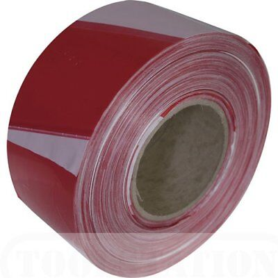 NEW Red & White Barrier Tape 70mm x 500m hazard warning tape safety tape