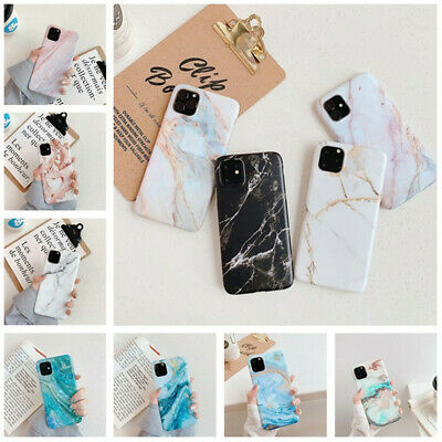 For iPhone 11 Pro XS XR XS 7 8 Plus Slim Marble Patterned Soft Rubber Case Cover