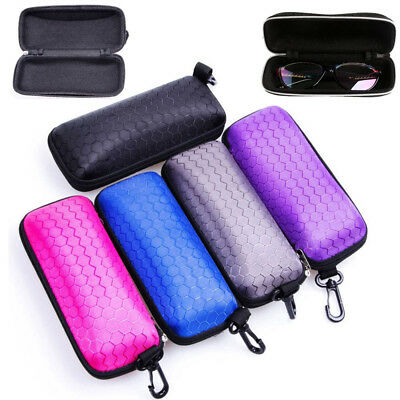 Utility Rectangle Zipper Sunglasses Hard Eye Glasses Case Eyewear Protector Box