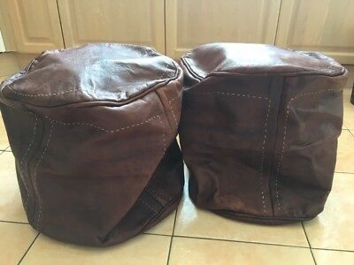 NEW Leather Footstools x2