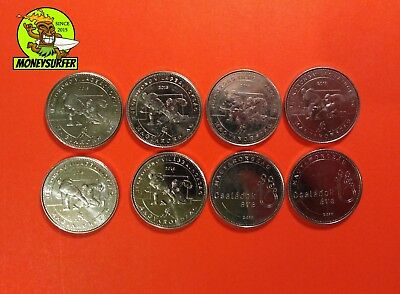 Hungary 8PCS Commerative 50 Forint HUF Coin 2018 VF