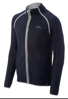 Kathmandu Lomond Men's Merino Wool Full Zip Jacket v3 Size Large Navy