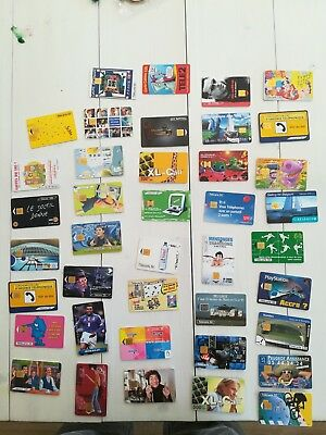 Lot De 40 Cartes Telephoniques