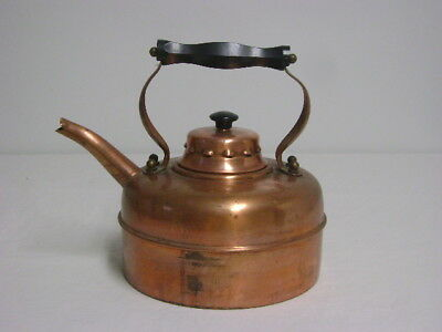 Vintage Copper Tea Water Kettle Stove Top 2.5  Quart England British English UK