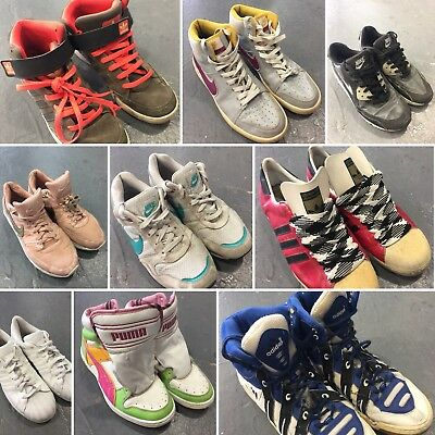 Vintage Wholesale Lot Trainers Hi-Top Sneakers Shoes Mix x 25 *SALE*