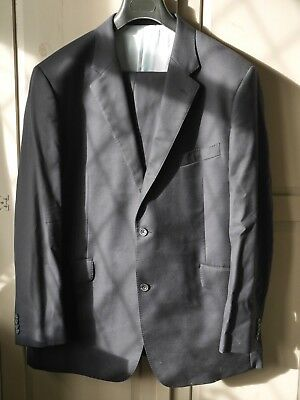 TM Lewin Navy Mens Suit Super 110's Merino Wool 40 R