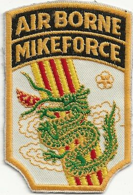 """Rare Original Vn """"airborne Mike Force Viet Nam"""" Patch - Emb On Twill"""
