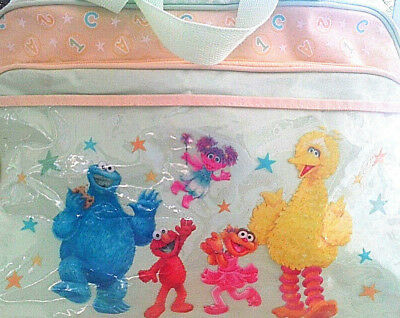 123 Sesame Street diaper bag tote Elmo Big Bird green yellow