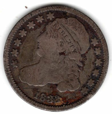 1833 Capped Bust Dime (A1364)