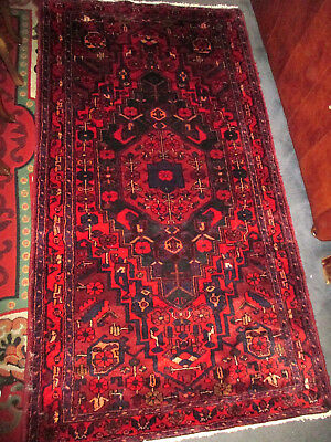 """ANTIQUE 100% wool  MIDDLE EASTERN  PERSIAN/ TRIBAL 102""""X 55""""  RUG"""