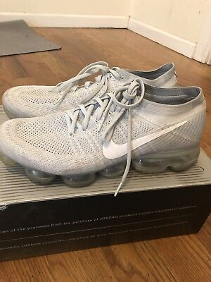 Nike Air Vapormax Flyknit Size 12 Pure Platinum
