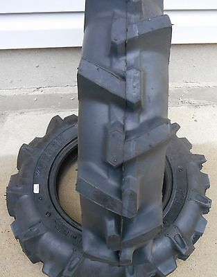TWO 5.00-12 R-1 LUG Compact-Tractor Tires & Tubes Heavy Duty 6ply Rated