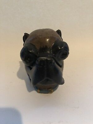 Signed Vienna Cold Painted Boxer Dog Bronze Inkwell