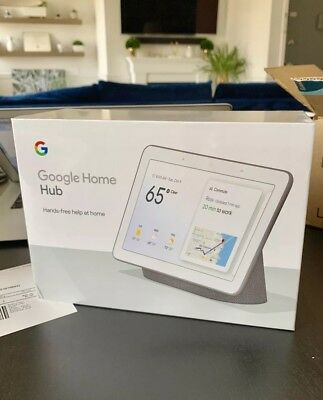 Google Home Hub with Google Assistant - Charcoal - BRAND NEW FACTORY SEALED