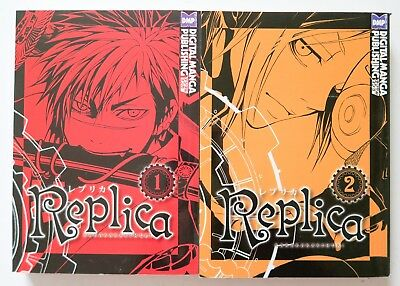 Replica Vol. 1 & 2 Karakara Kemuri DMP Manga Novel Anime Comic Book Lot